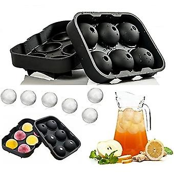 6x Whiskey Ice Cube Ball Maker Mold Sphere Mould Party Bar Tray Round - 100% Silicone sem Bpa - Gadget de idéia de resfriamento !