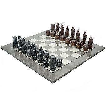 Berkeley shakki Englanti harmaa metalli Chess Set