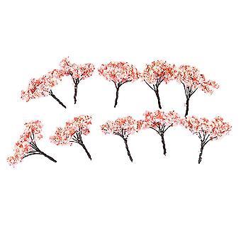 10pcs Model Flower Tree Architecture Model Tree for DIY Scenery Landscape House