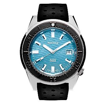 Squale 1521ODBBK.NT 500 Meter Swiss Automatic Dive Wristwatch Rubber