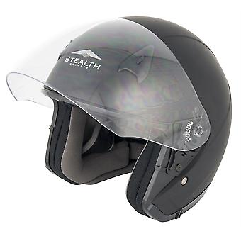Stealth NT200  Adult Open Face Helmet - Matt Black