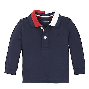Tommy hilfiger baby navy blau langarm polo kn0kn01153