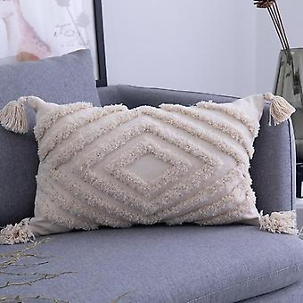 Tassels Couch Cushion Cartoon Printed Quality Cotton Linen Home Decorative