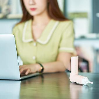 USBファンLEDライト電気ポータブルフォールド小さな夏のファンデスクトップの電気ファン