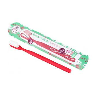 Red Medium rechargeable ecological toothbrush 1 unit
