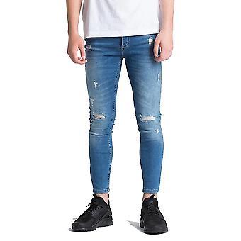 Reis vão sonhar junior meninos romer mid lavagem jeans rasgado j137