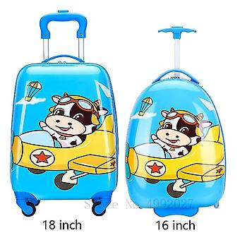 Kids Travel Suitcase With Wheels, Cartoon Anime Rolling Luggage Carry