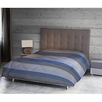 Robert Quilt Couleur Bleue, Bleu Clair, Gris Microfibre, L170xP250 cm