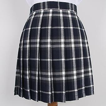 Vestidos escolares plaid plissados saias curtas