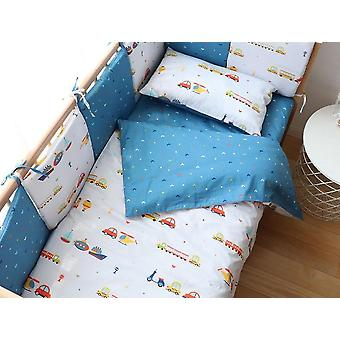 مجموعة الفراش الطفل بما في ذلك حالة وسادة، ملاءة السرير وغطاء لحاف