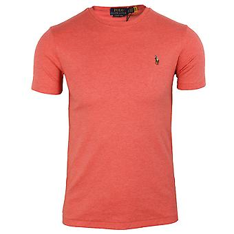 Ralph lauren men's pink heather pima t-shirt