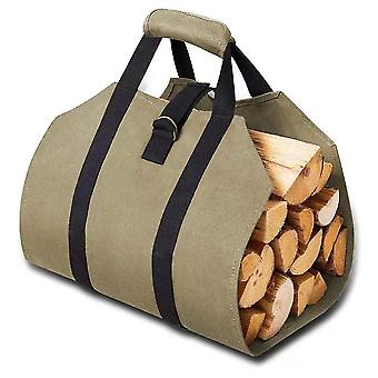 Firewood bags, fireplace wood carrying bags, multi-functional large-capacity storage bags, heavy-duty wood carrying bags with handles