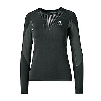 New ODLO Women's Performance Warm Long Sleeve Base Layer Crew Black