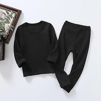 Kid Ribbed ausgestattet Pyjamas Set - Unisex Kleidung Sleepwear Nachtwäsche Top und Hose