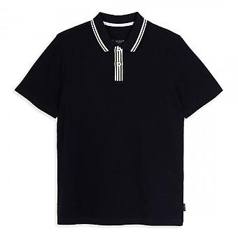 Ted Baker Twitwoo SS Stripe Kraag Navy Polo Shirt