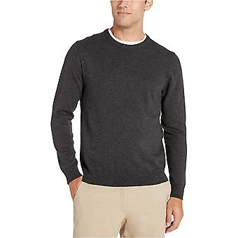Essentials Men's Crewneck Pullover Pullover, -Charcoal Space-Dye, Medium