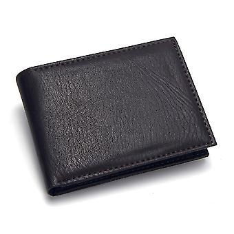 Casual hombres's carteras cuero solid cartera de lujo hombres pu cuero slim bifold bolsos cortos titular tarjeta de crédito bolso masculino