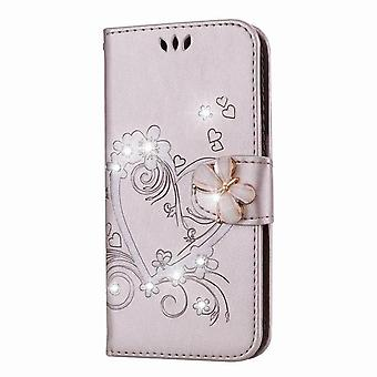 Magnetic Leather Folio Case for Samsung Galaxy S9 Plus - Golden