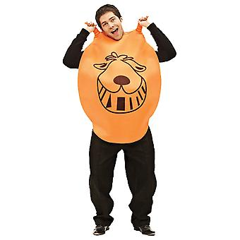 Unisex Giant Orange Space Hopper leuke nieuwigheid 80s spel Toy fancy dress kostuum
