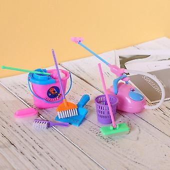 9 Pcs Kid Pretend Play Mini Housekeeping Tool (purple)
