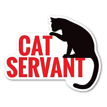 "Magnet, Cat Servant, 5"" X 4"""
