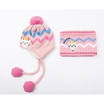 Kids Winter Hat & Scarf Baby Winter Cap