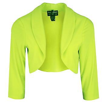 Frank Lyman Lime Green Long Sleeve Jersey Bolero