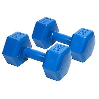 Käsipainosarja 8 kg – 2 x 4 kg – Kuusikulmainen – Sininen