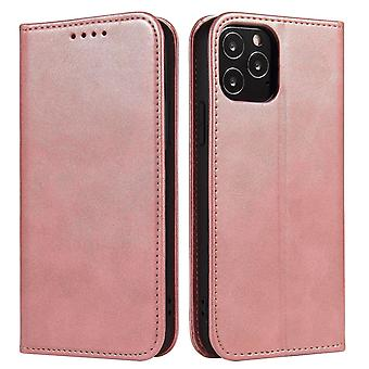 Flip folio leather case for sony xperia 1 iii rose gold pns-1391