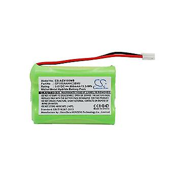 Cameron Sino Acv100Mb Battery Replacement For Audioline Baby Phone