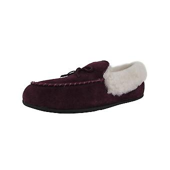 Fitflop Womens Clara Shearling Suede Moccasin Pantoufle Chaussures