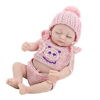 Realistic vinyl silicone newborn baby girl doll pl-1154