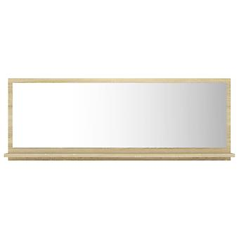vidaXL Badspiegel Sonoma-Eiche 100x10,5x37 cm Spanplatte
