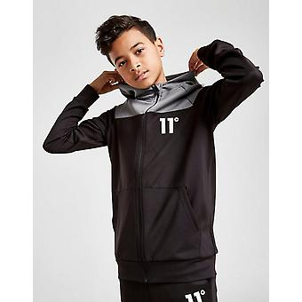 New 11 Degrees Cut & Sew Poly Full Zip Hoodie Junior from JD Outlet Black