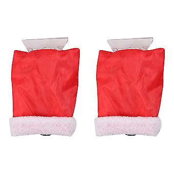 25X17cm red 2pcs glove type snow removal shovels christmas car snow cleaning tools dt3252
