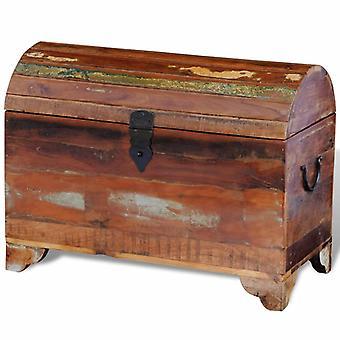 Caja de almacenamiento de madera sólida reciclada