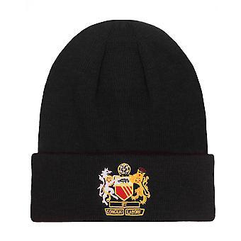 Fan Originals Beanie Bobble Hat Manchester Crest in United Colours