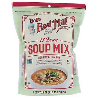 Bobs Red Mill Soup Mix 13 Böna, Fodral på 4 X 29 Oz