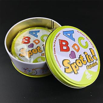 nová abeceda abcd(box) halloween dobbles spot it hip hop anglická verze desková hra kovová plechovka sm37839