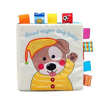 Good Night Dog Baby Cloth Book With Sound Paper Bb Device Sound Box Baby Fabric Book