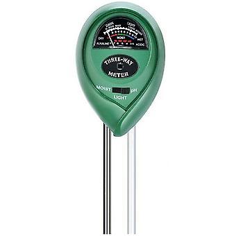3 In 1 soil ph tester water moisture light test meter kit az10543