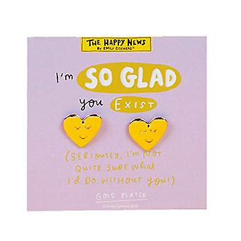 Gold Look Earrings - So Glad You Exist (Pack of 4)