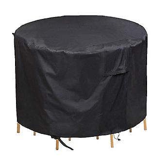Round furniture dustproof and waterproof cover, outdoor garden table furniture protective