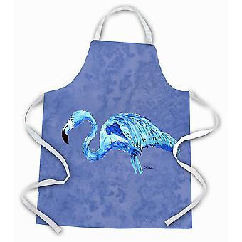 Tesoros de Caroline 8873APRON Flamingo en pizarra azul delantal, grande, multicolor