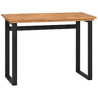 vidaXL Työpöytä 100x45x75 cm Massiivipuu tiikki