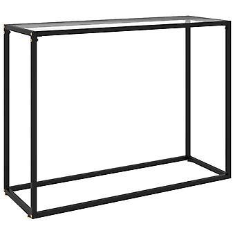 mesa de console vidaXL transparente 100x35x75 cm vidro temperado