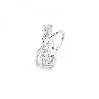 Temperament Cross Micro Inset Zircon Color Preservation Fashion Personality Small Fresh Opening Adjustable Ring Woman