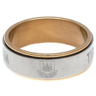 West Ham United FC Bi Color Spinner Ring