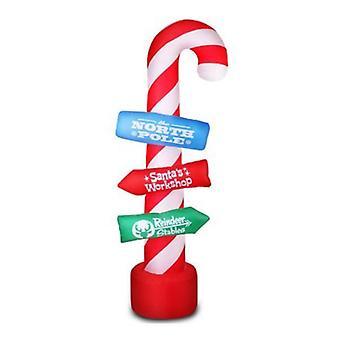Christmas Inflatable Santa Guide Candy Pole Xmas Decor Led