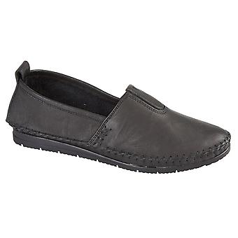 Mod Comfys Womens/Ladies Softie Leather Casual Shoes